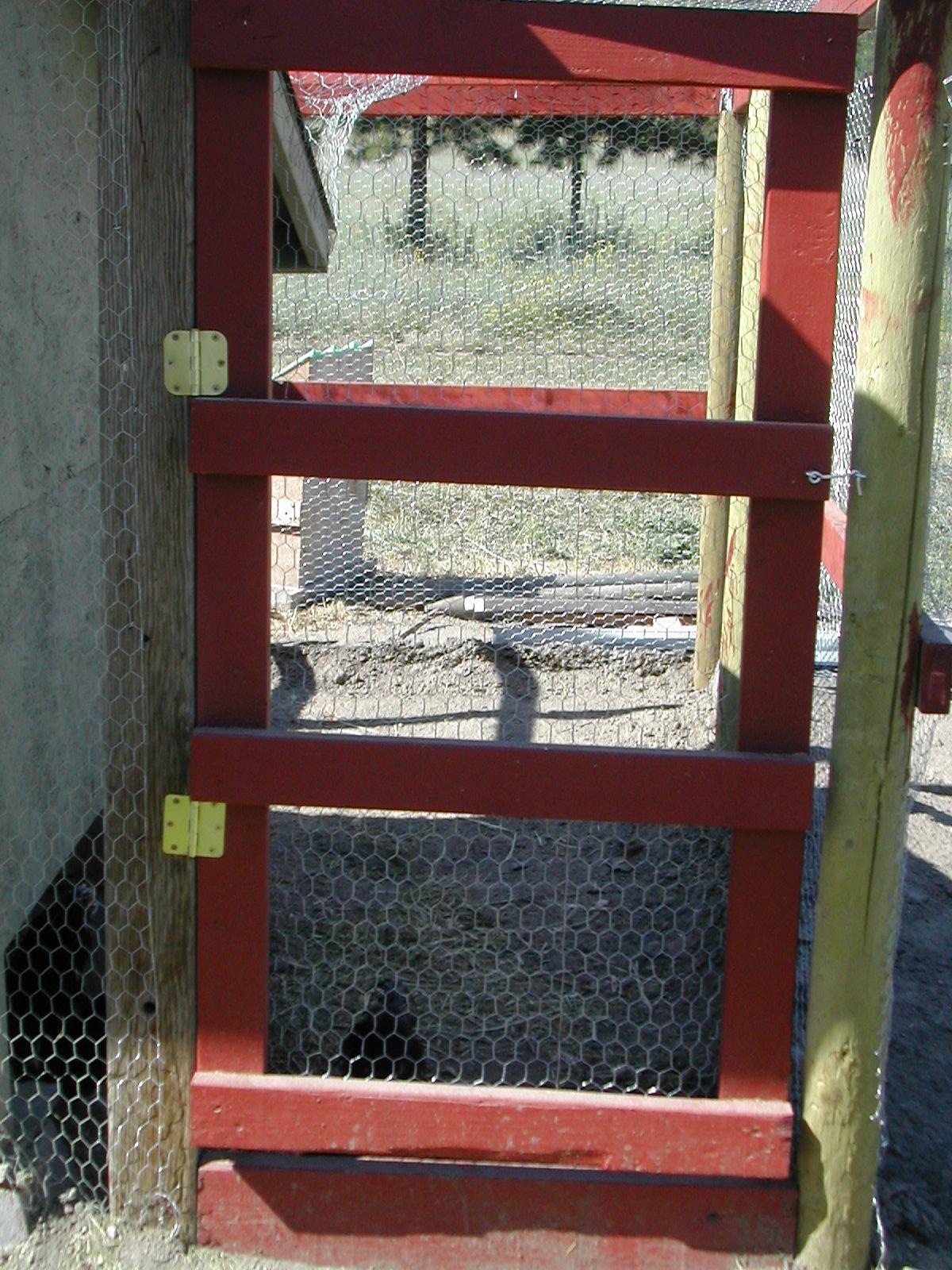 Close up of the heavy-duty run door.